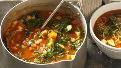 "Recipe: <a href=""http://kitchen.nine.com.au/2016/05/05/16/06/minestrone-soup"" target=""_top"">Minestrone soup</a>"