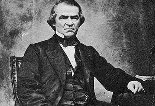 Photograph of US President Andrew Johnson (Getty)