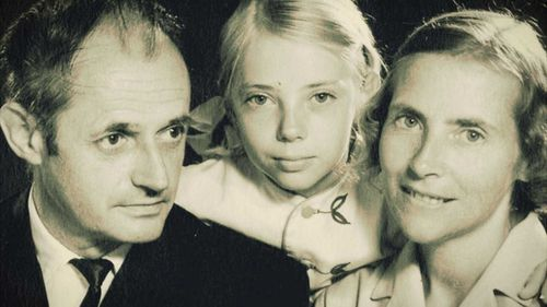 Juliane Koepcke as a young child with her parents.
