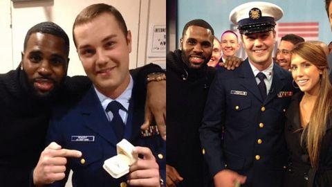 Watch: Jason Derulo helps soldier make surprise TV marriage proposal