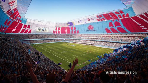 The NSW Waratahs will also play out of the new Allianz Stadium.