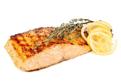 Salmon: 252mg per 100g