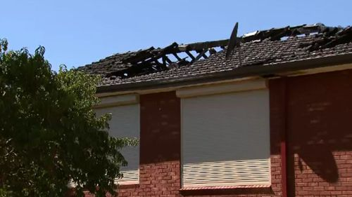 The Latern Close home was extensively damaged. (9NEWS)