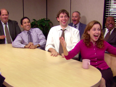Meeting scene from 'The Office'