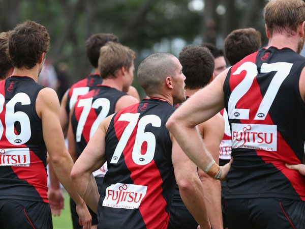 The Essendon football club. (Getty)