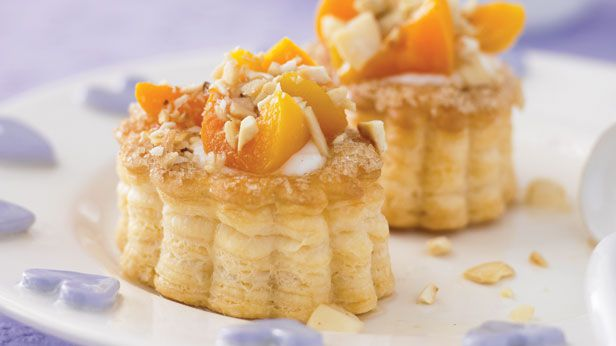 Apricot n cream tarts