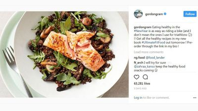 "Gordon Ramsay hopes for a <a href=""http://www.instagram.com/p/Bde7sPjFB8h/?taken-by=gordongram"" target=""_parent"" draggable=""false"">healthy new year&nbsp;</a>"
