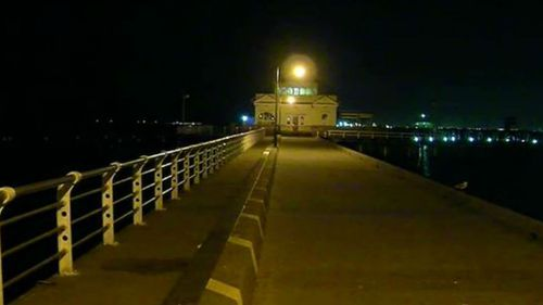 A man had to be rescued off St Kilda pier early this morning. (9NEWS)