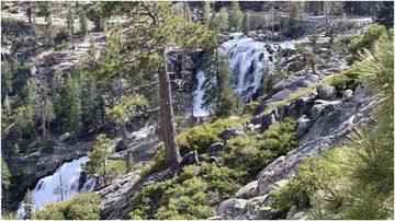 A woman has died after falling off a waterfall while taking a selfie in California's north.