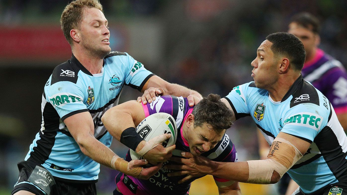 Cronulla Sharks shock Melbourne Storm with NRL win at AAMI Park