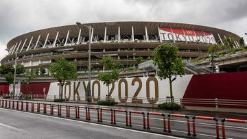 The New National Stadium, the main stadium for the Tokyo Olympics.