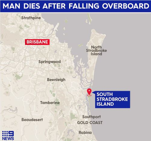 Man dies after falling from boat south of Brisbane