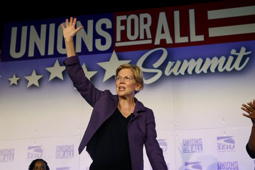 Democratic presidential candidate Sen. Elizabeth Warren is 70-years-old - The same age President Trump was when he won the 2016 election.