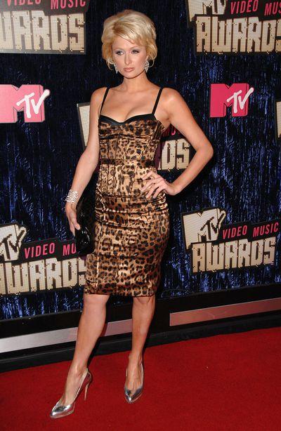 Paris Hilton at the 2007 Video Music Awards, September 9, 2007 in Las Vegas