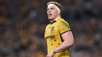 David Pocock is ready to battle with Richie McCaw in the Rugby World Cup final. (AAP)