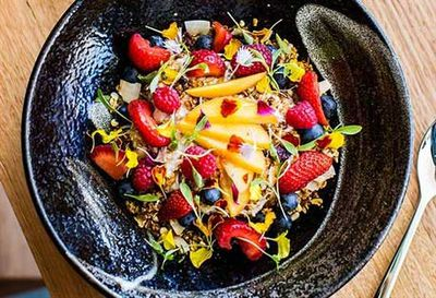"""Recipe: <a href=""""/recipes/ifruit/9023480/harrys-chia-pudding-with-seasonal-fruit """" target=""""_top"""">Harry's chia pudding with seasonal fruit</a>"""