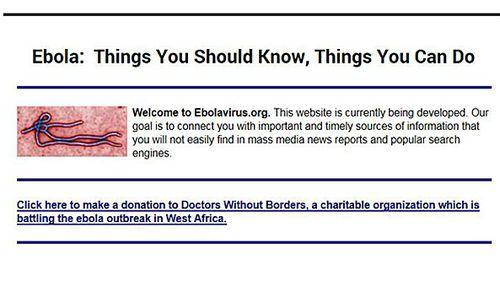 Businessman wants $150k for Ebola.com