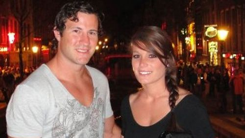 Asheligh Hession, right, became worried when she did not hear from Luke on the morning of his flight.