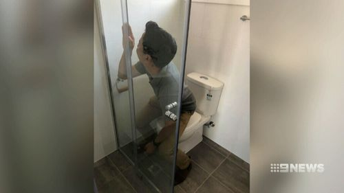 A toilet that faced one direction in the plan was instead built directly facing a shower wall. (9NEWS)