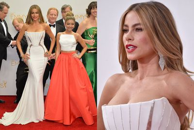 Sorry Sarah Hyland, but Sofia Vergara stole the spotlight at the 66th Anuual Emmy Awards and she's 18 years older than you. Case in point.
