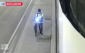Delivery drivers seen cycling through busy tunnels as cars and trucks speed past
