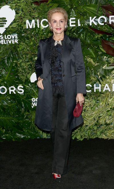 Carolina Herrera at the Annual God's Love We Deliver Golden Heart Awards in New York City