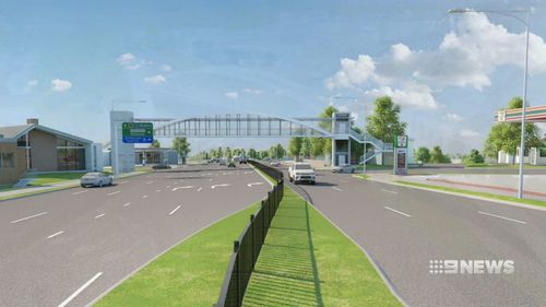 At Kirrawee a pedestrian footbridge will be installed to improve travel times. Picture: 9NEWS