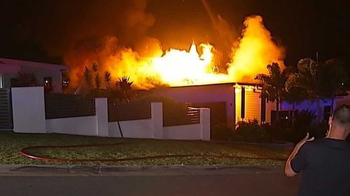Firefighters had to act quickly to save the homes of neighbours.