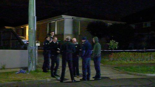 Police were called to the Bulleen home after the woman allegedly suffered life-threatening injuries from a man with an 'edged weapon'.