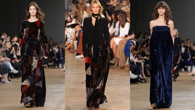 Chloe gave it a whimsical vibe with patchwork and draped gowns.