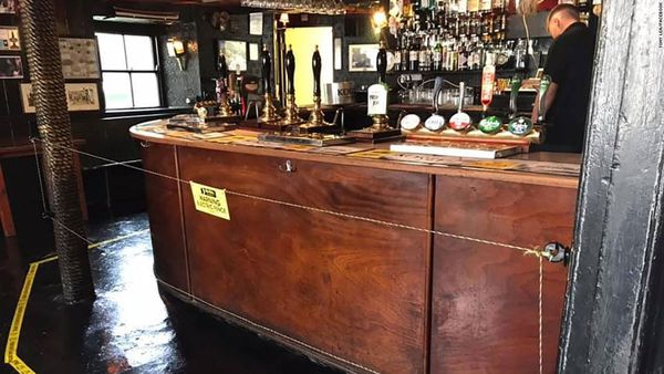 English pub owner installs electric fence for distancing 'fear factor'