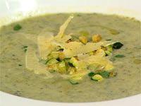 Italian style zucchini and parmesan soup