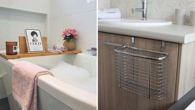 Genius products to help organise and tidy your bathroom