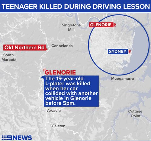 The teen was learning to drive a Suzuki Swift with her father as her supervisor when her vehicle collided with a Ford Falcon. Picture: 9NEWS.