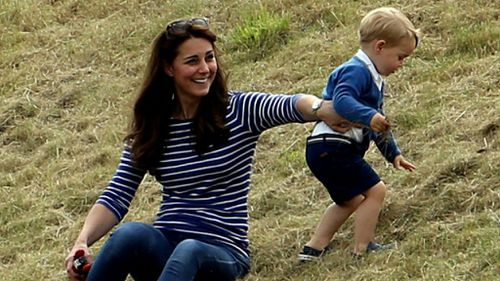 Prince George steals the show for second time in two days