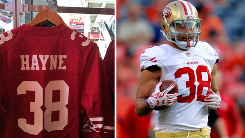Jarryd Hayne's 49ers jersey the number one purchase at the NFL store