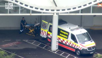 A teenage student has been taken to hospital after being stabbed at a school in Sydney's west today.