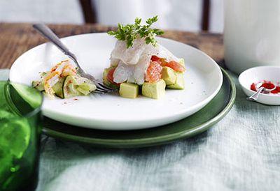Mackerel ceviche with avocado