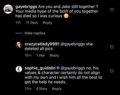 MAFS Jake Edwards Sophie Guidolin break up