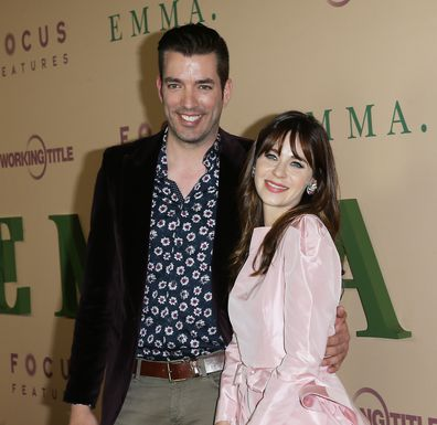 Zooey Deschanel and Jonathan Scott attend the Los Angeles premiere of Emma on February 18, 2020 in Los Angeles, California.