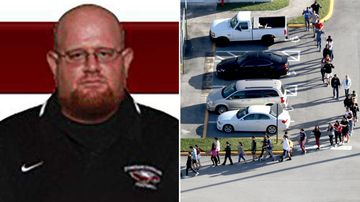 High school football coach 'selfless shielded' students from shooter