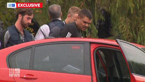 Nine News cameras captured the moment armed TRG officers stormed a home in Armadale bringing to an end a dramatic four day manhunt.
