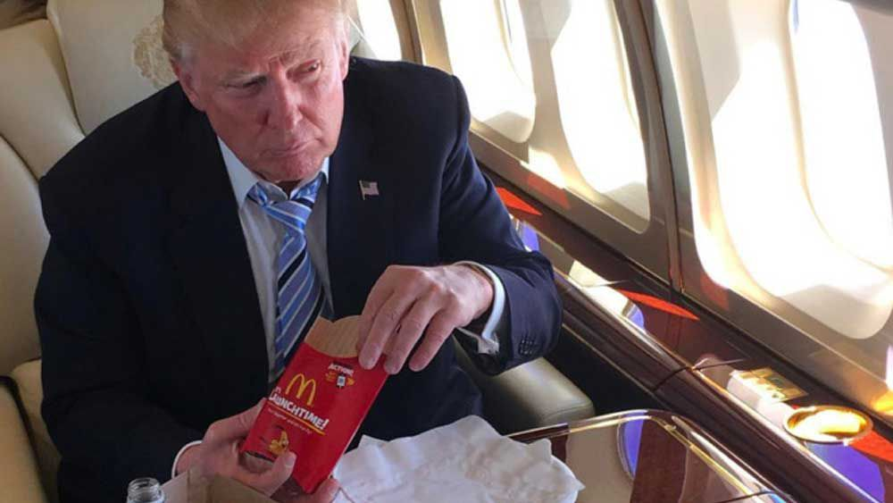 Trump sends bodyguard on important presidential custom Maccas run_thumb