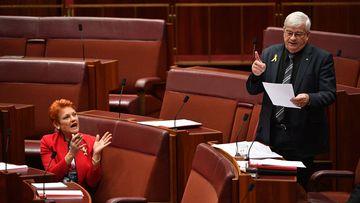 Brian Burston is suing Pauline Hanson for defamation.