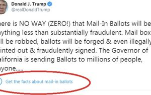In dramatic twist, Twitter adds fact-check warnings to Trump tweets