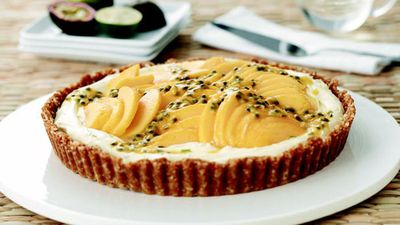 "Recipe: <a href=""http://kitchen.nine.com.au/2016/06/06/15/43/best-lime-mascarpone-and-mango-tart"" target=""_top"">Best lime mascarpone and mango tart</a>"