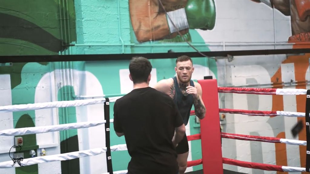 McGregor's trains punching playing cards