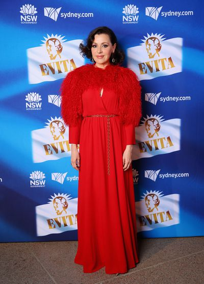 Tina Arena at the premiere of Evita, Sydney Opera House. Images: Getty