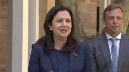 Annastacia Palaszczuk makes an announcement on Queensland's border restrictions.