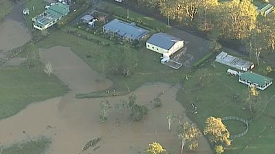 Other parts of south-east Queensland, with residents preparing to assess the damage from the weekend's big wet. (9NEWS)
